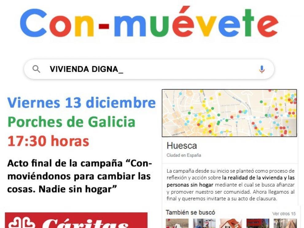 Cáritas Huesca reclama a las administraciones medidas eficaces para asegurar el derecho a la vivienda