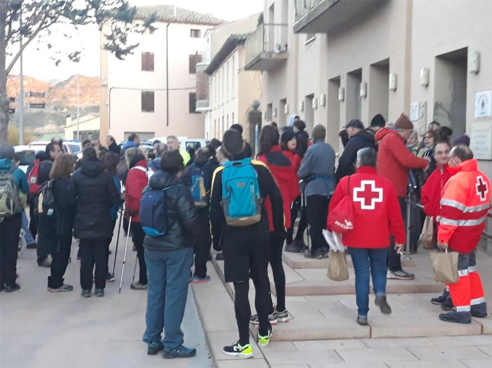 Un centenar de personas respalda la rehabilitación de la ermita de Santa Lucía en Ayerbe