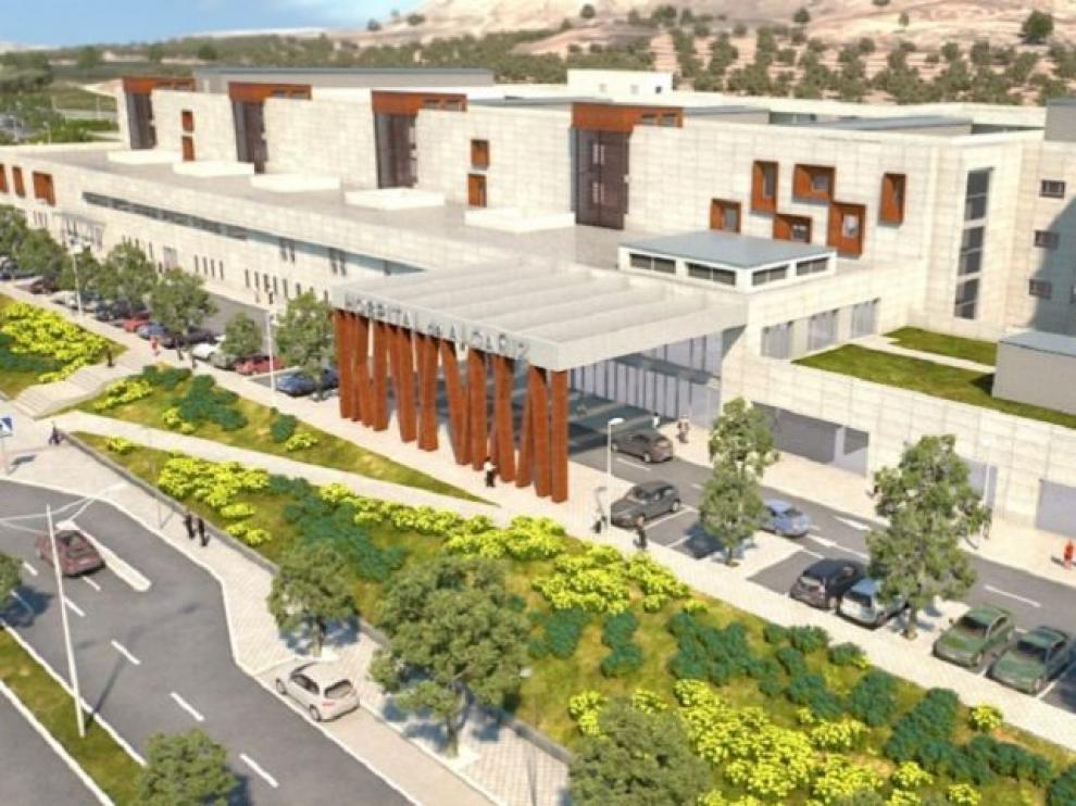 """Lambán señala que """"la solución mejor"""" para construir el hospital de Alcañiz era rescindir el contrato"""
