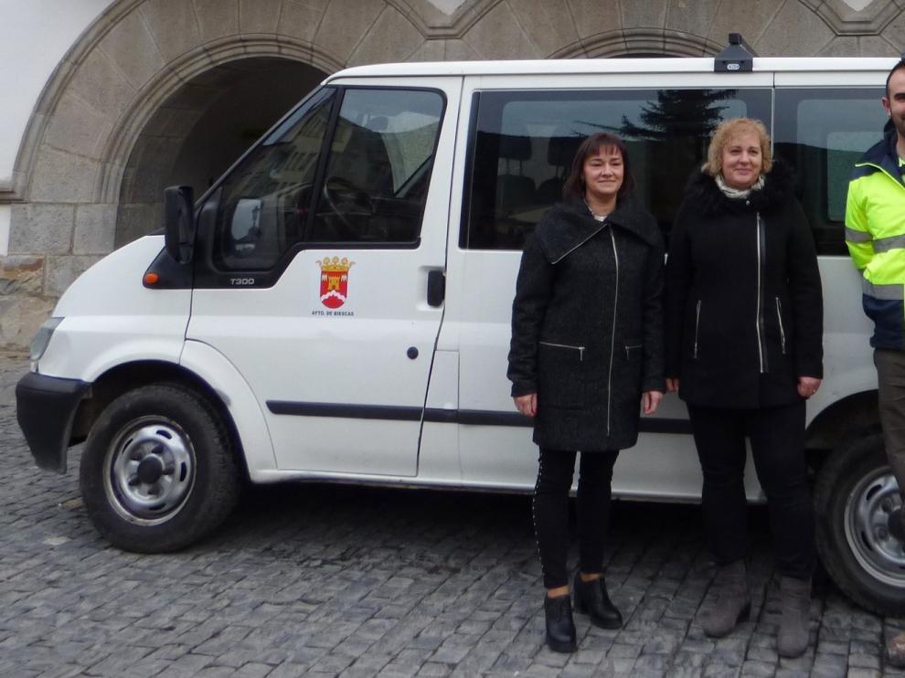 Biescas pone transporte gratis al Barrio de la Peña