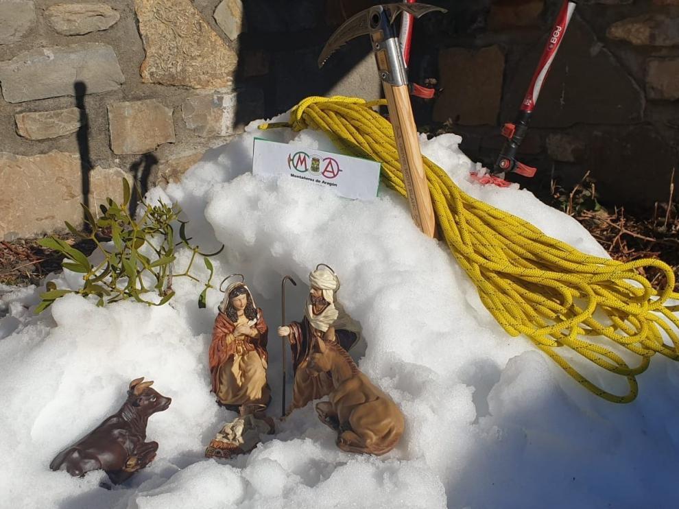 El belén de Montañeros de Aragón cumple 50 años
