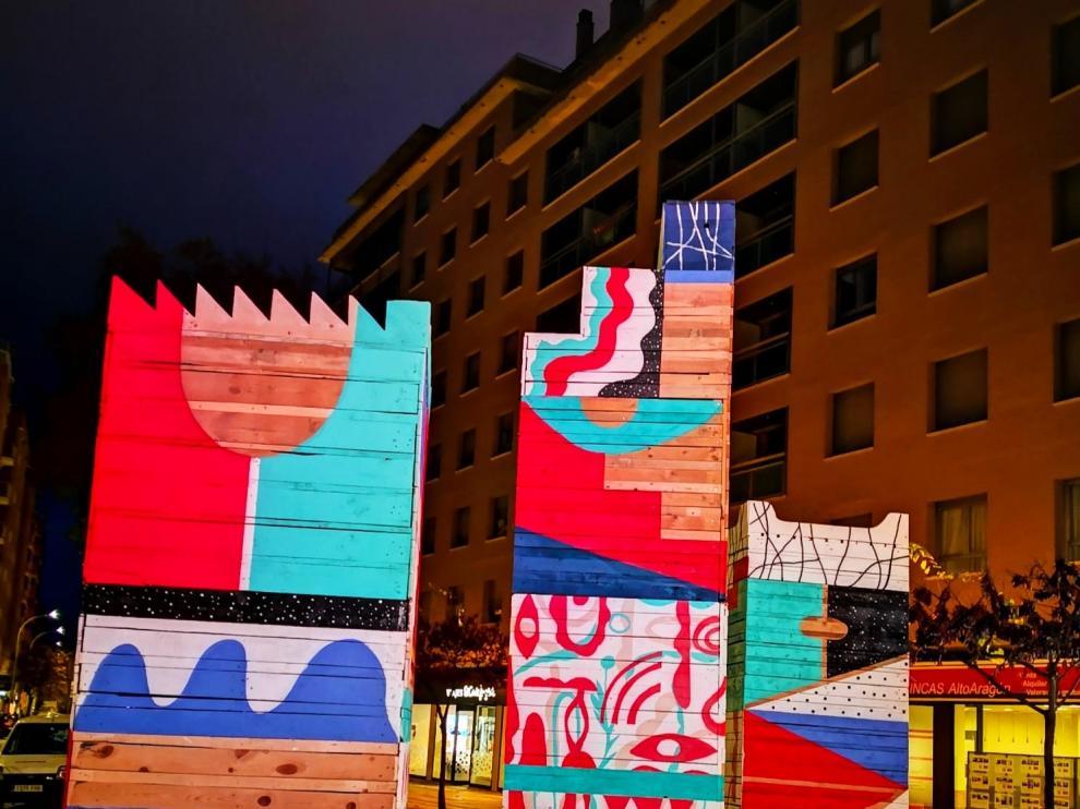Huesca ofrece una nueva mirada a la Navidad con un árbol de los sentidos