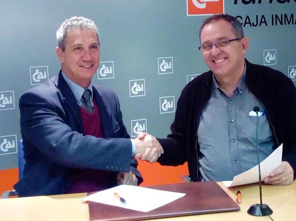 Fundación Caja Inmaculada y Cadis Huesca ratifican su convenio de colaboración