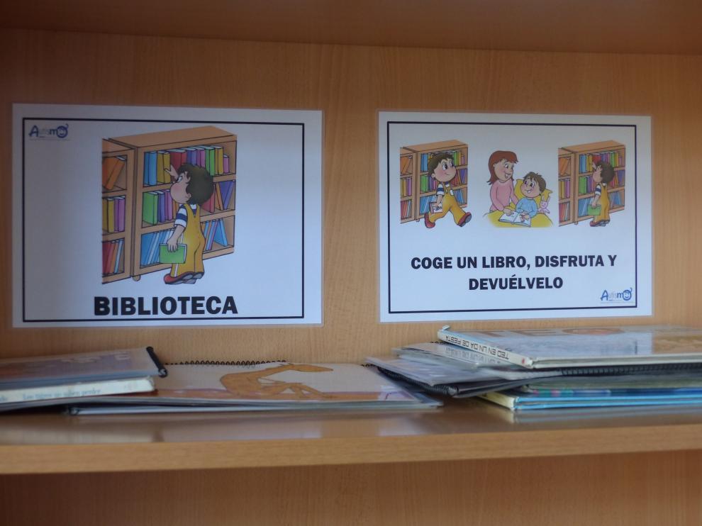 Amo pictografía la Escuela Infantil de Monzón para facilitar la comprensión de los niños