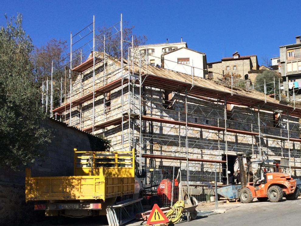 Boltaña transforma un viejo molino en su nueva oficina de turismo