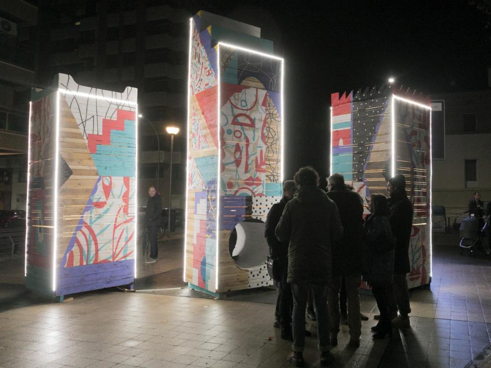 Dos nuevas instalaciones artísticas completan la ruta navideña oscense