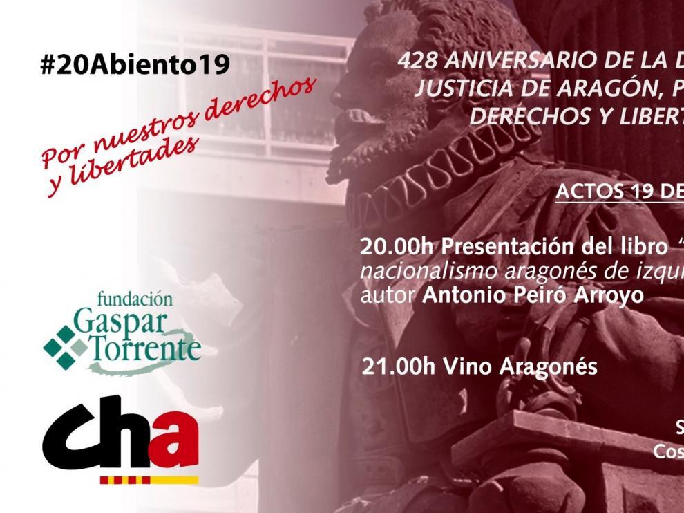 """El libro """"Gaspar Torrente: El nacionalismo aragonés de izquierda"""" conmemora el aniversario de la decapitación del Justicia"""