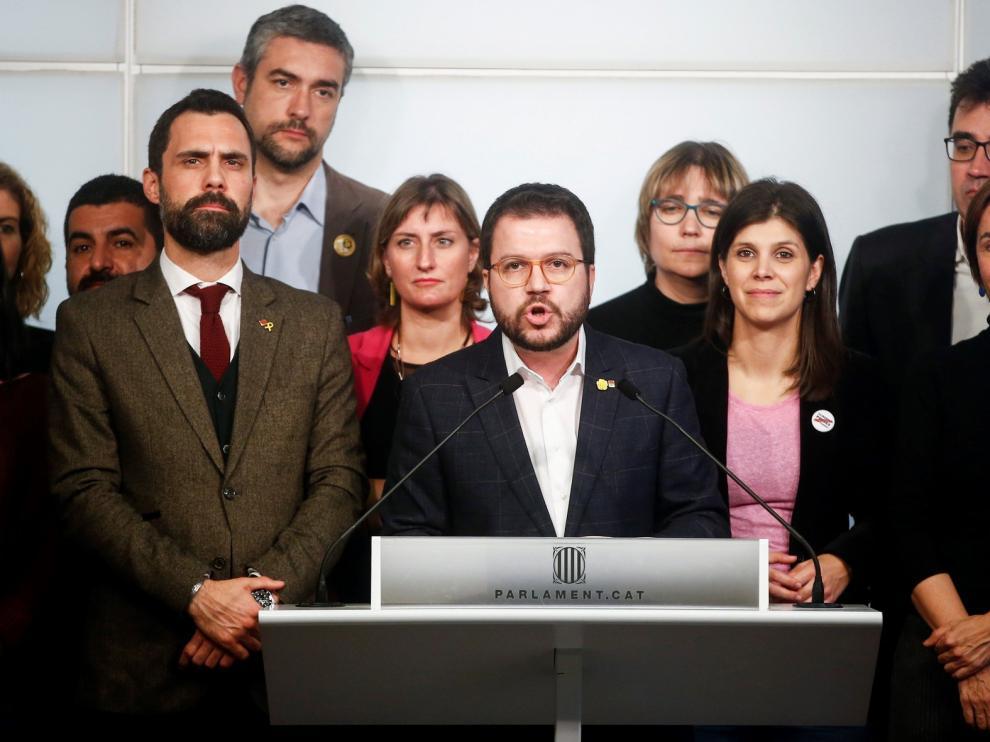 """ERC advierte al Gobierno, tras la sentencia, que """"abandone la vía penal"""" si quiere apostar por el diálogo"""