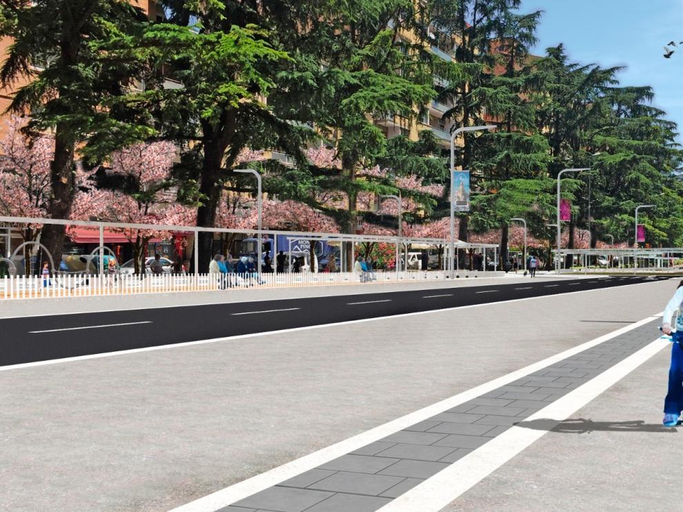El Ayuntamiento de Huesca propone adjudicar la segunda fase del paseo Ramón y Cajal a la empresa Copha