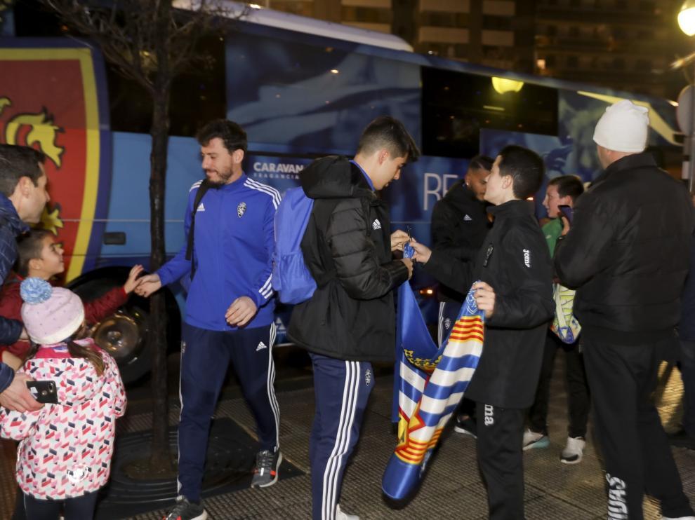 El Real Zaragoza ya está en Huesca