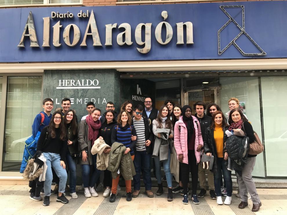 Alumnos de Ribagorza con vocación periodística