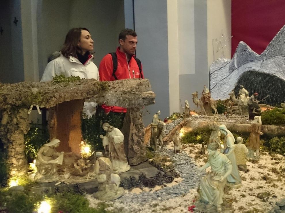 La peña Foratata y Lanuza para acoger al niño Jesús