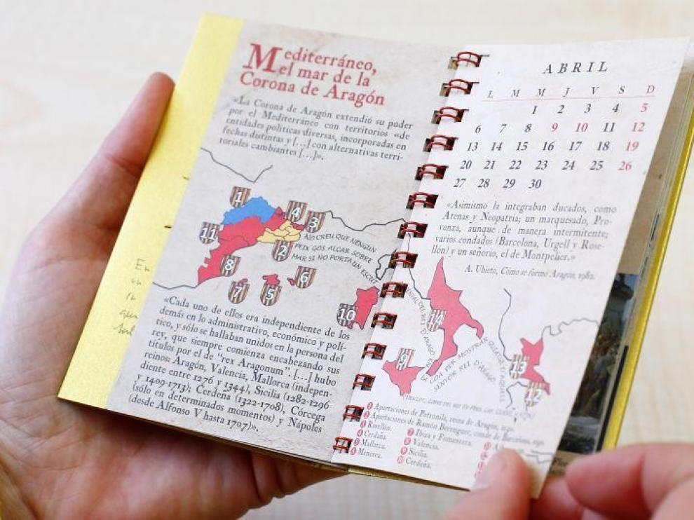 Lambán vuelve a felicitar el año con un calendario sobre la historia de Aragón