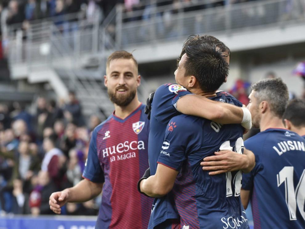 El Huesca, sin un goleador fijo en la primera vuelta