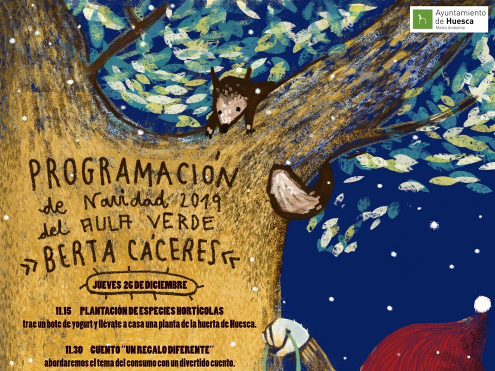 "El Aula Verde ""Berta Cáceres"" de Huesca organiza diferentes actividades navideñas"