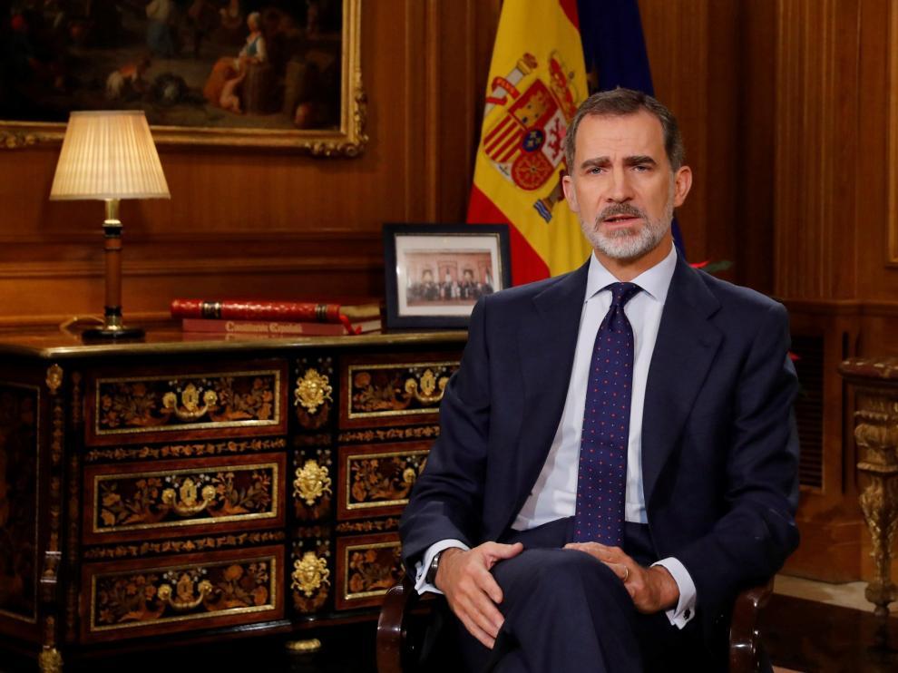 El Rey llama a fortalecer los valores que han sustentado la democracia española