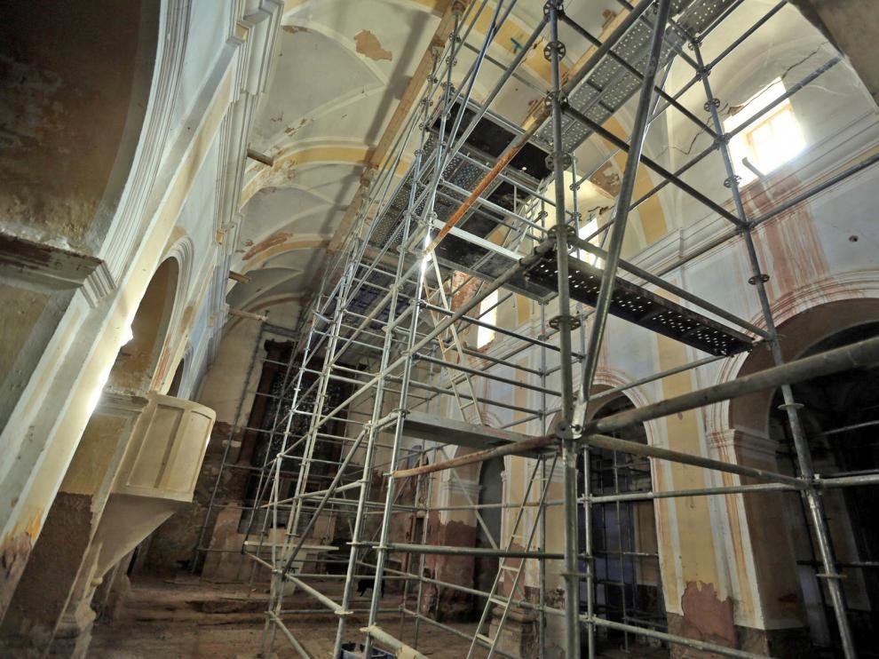 La restauración de la iglesia de Castilsabás se retrasa para 2020