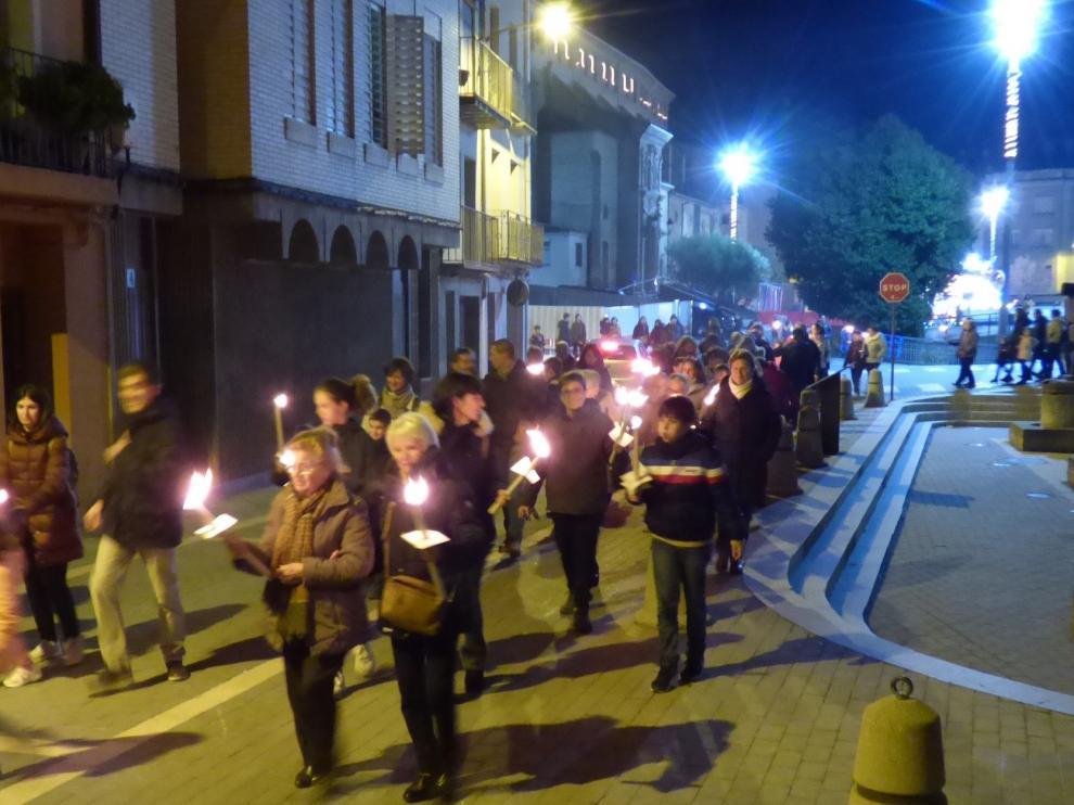 Unas 250 personas en el belén urbano de Barbastro