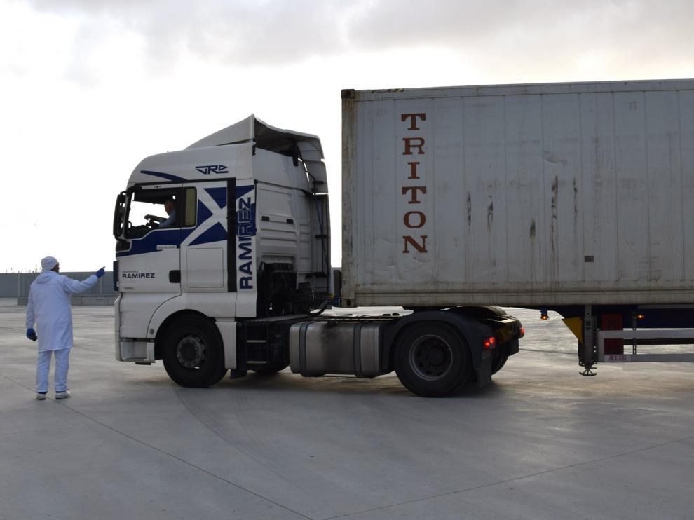 Litera Meat exporta su primer contenedor a terceros países desde Binéfar