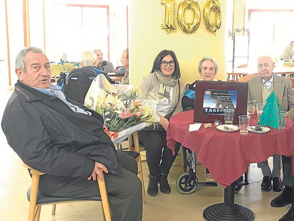 Teresa Paño, de Tardienta, cumple cien años