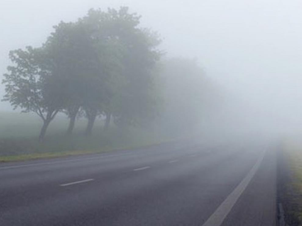 La niebla condiciona la circulación en varios tramos de carreteras de Huesca