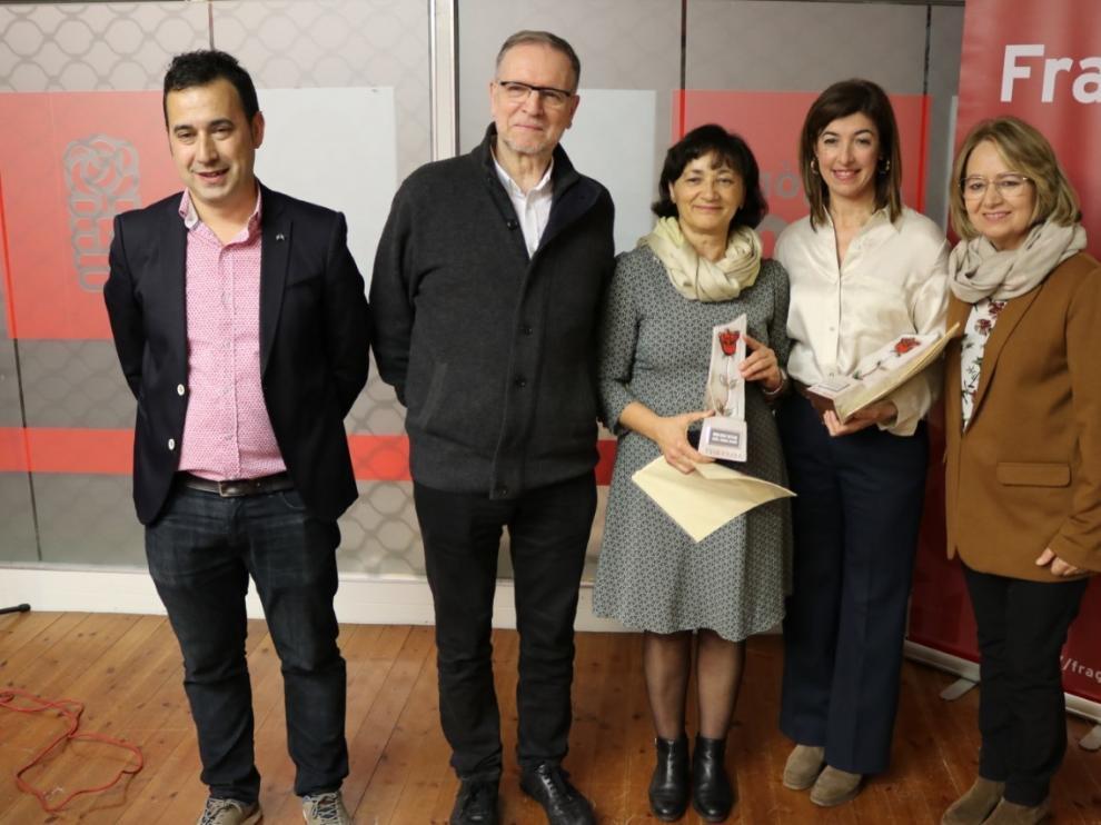 El PSOE de Fraga distingue a María Ángeles Aragón y Patricia Millanes