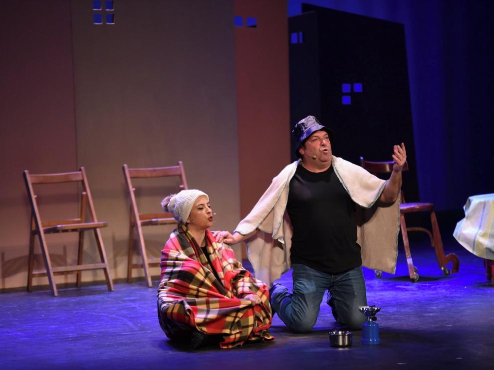 Jorge Asín y Marisol Aznar llenan de buenos momentos el Teatro Olimpia