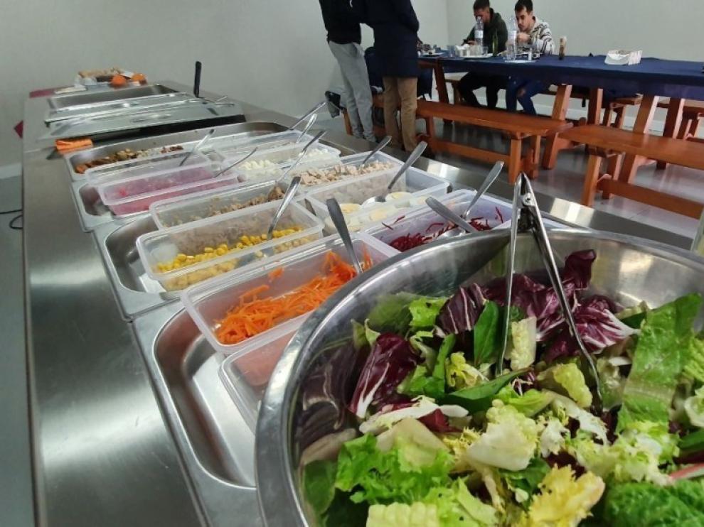 El nuevo comedor de El Alcoraz, un espacio saludable para los jugadores