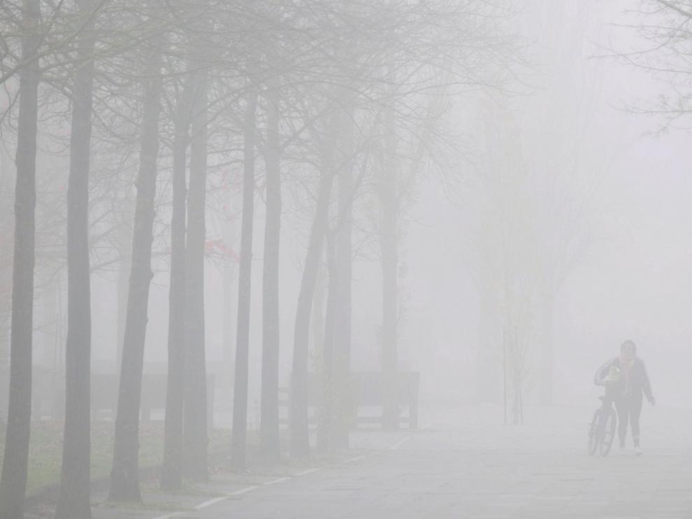 Inversión térmica por la niebla con diferencias de casi 9 grados