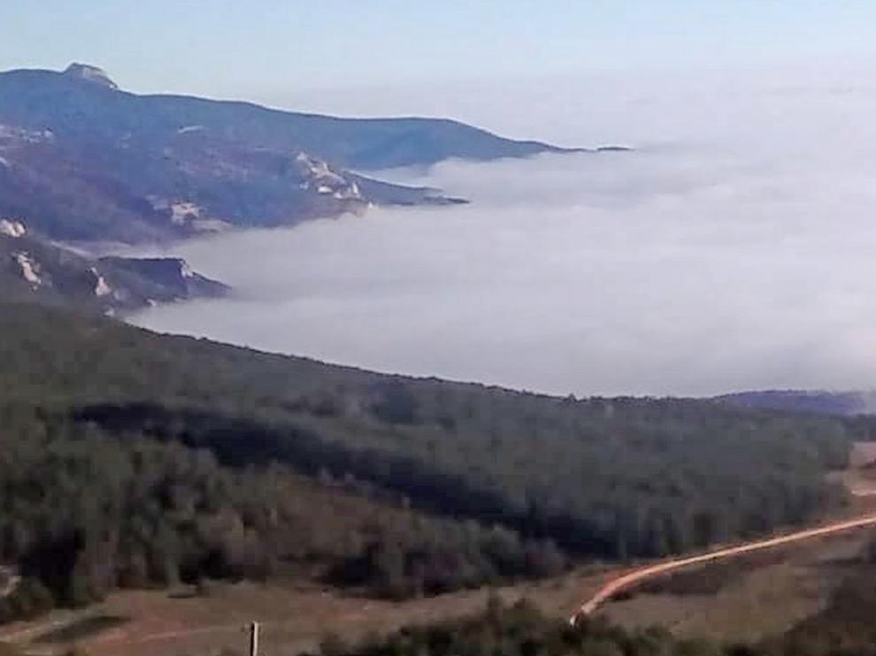 La niebla permanece en la ciudad de Huesca con mínimas bajo cero, según la Aemet