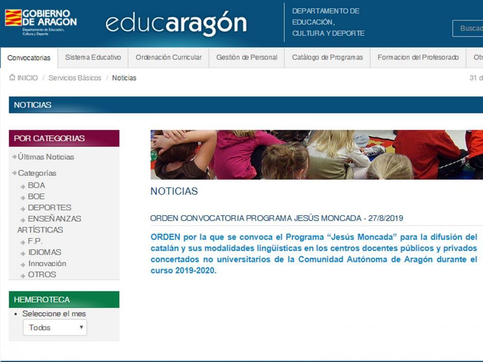 """El programa """"Jesús Moncada"""" lleva el catalán a 16 centros de la provincia de Huesca"""