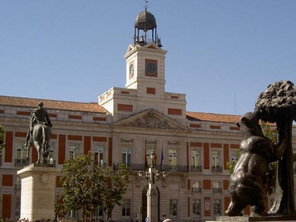 Todo preparado para las uvas en la Puerta del Sol