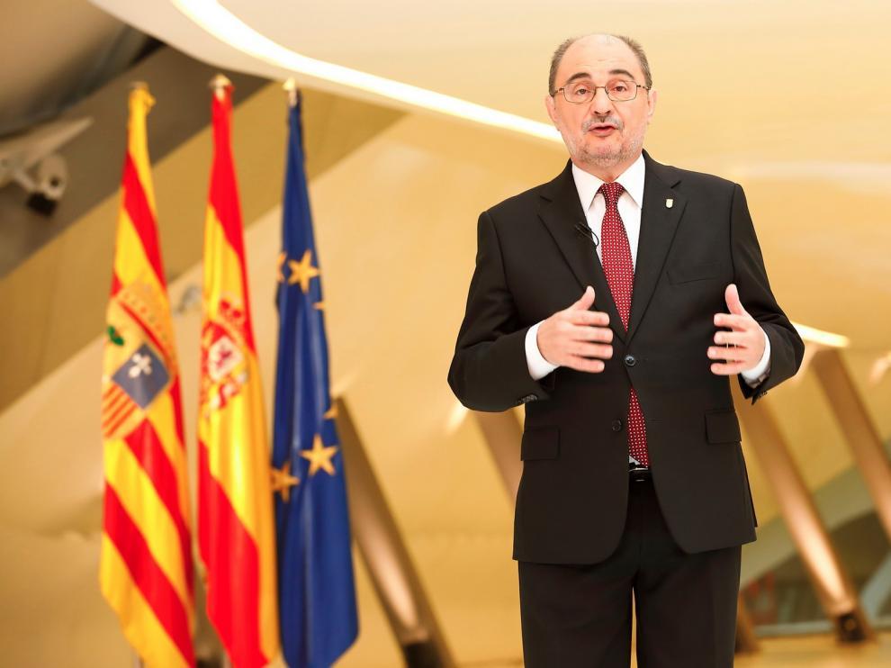 """Lambán pone al Gobierno de Aragón de ejemplo en España con un proyecto que huye de frentismos """"nefastos"""""""