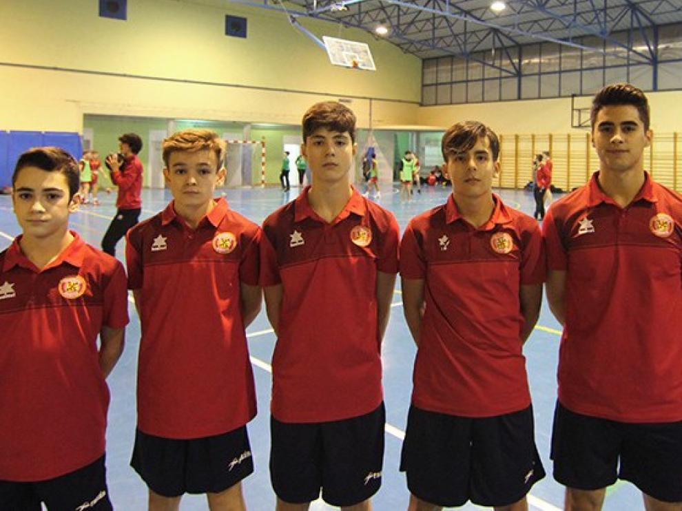 Seis jugadores de BM. Huesca al Nacional con Aragón