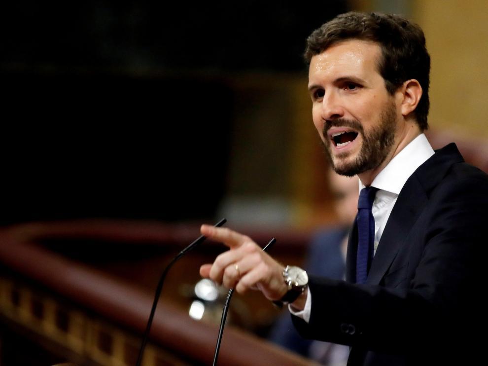 """Casado acusa a Sánchez de traer """"un Gobierno de pesadilla"""""""