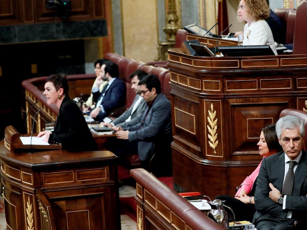Tensión en el Congreso por la intervención de la portavoz EH Bildu
