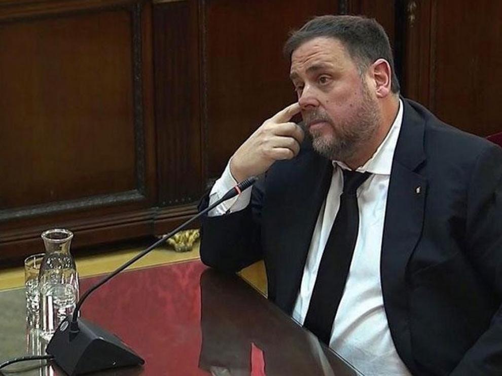 Oriol Junqueras pide que  le dejen ser eurodiputado