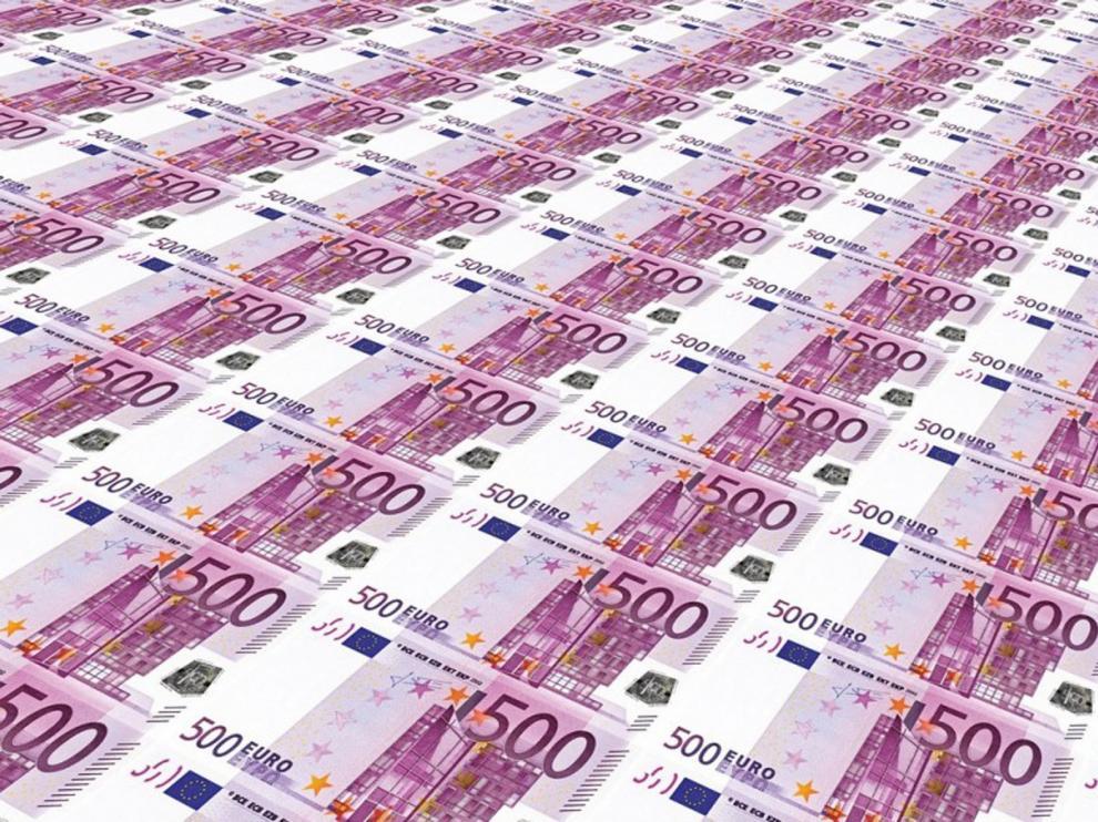 Los billetes de 500 euros, en su cifra más baja en 17 años