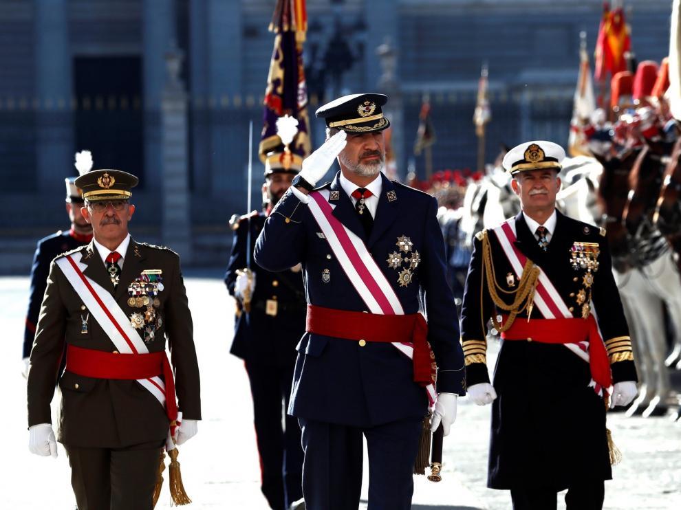 El Rey destaca el compromiso de las Fuerzas Armadas con España y la Constitución