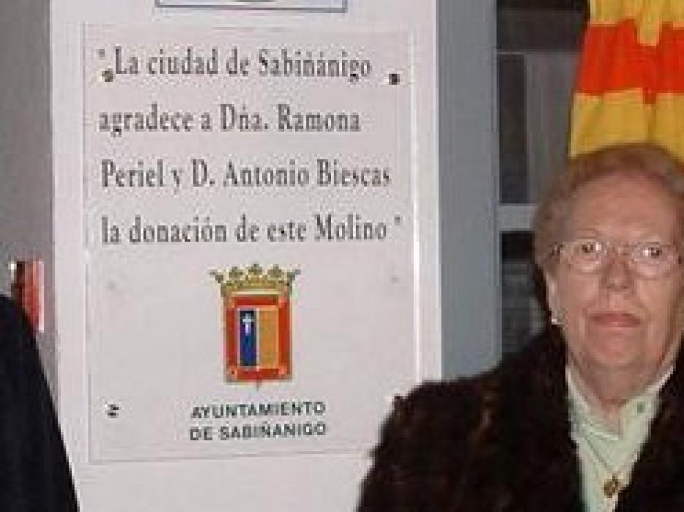 Muere Ramona Periel, donante del molino con su nombre