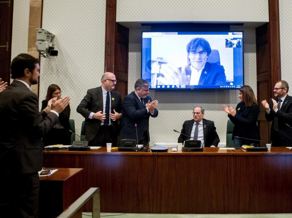 La Eurocámara reconoce a Junqueras y Puigdemont