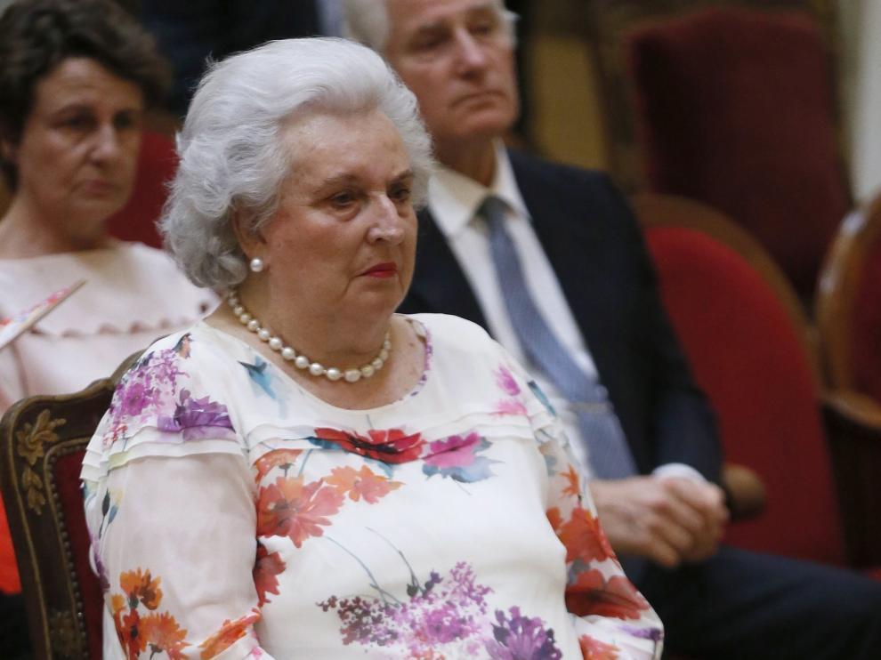 Pilar de Borbón, ingresada en una clínica en Madrid