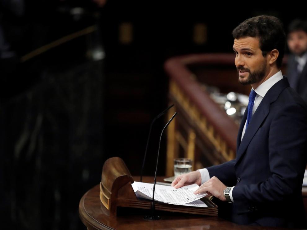 """Casado acusa a Sánchez de """"engaño masivo"""" a los españoles con su Gobierno """"ultra"""""""