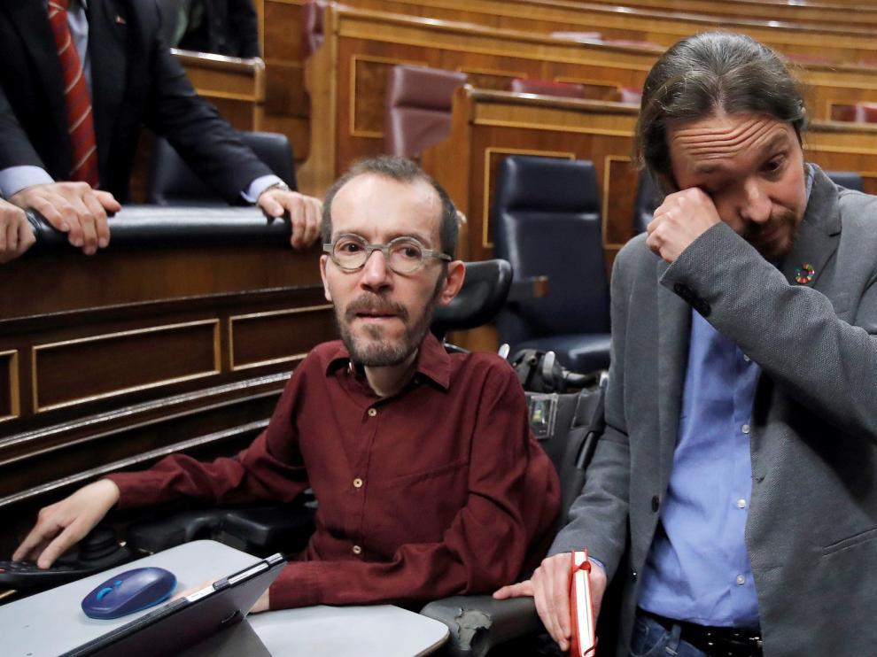 Pablo Iglesias rompe a llorar tras el pleno de investidura
