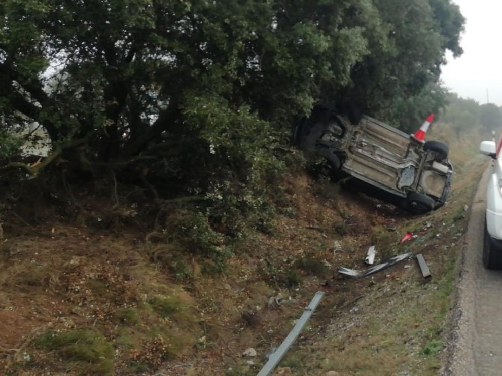 Tres accidentes en las inmediaciones de Barbastro con pocos minutos de diferencia