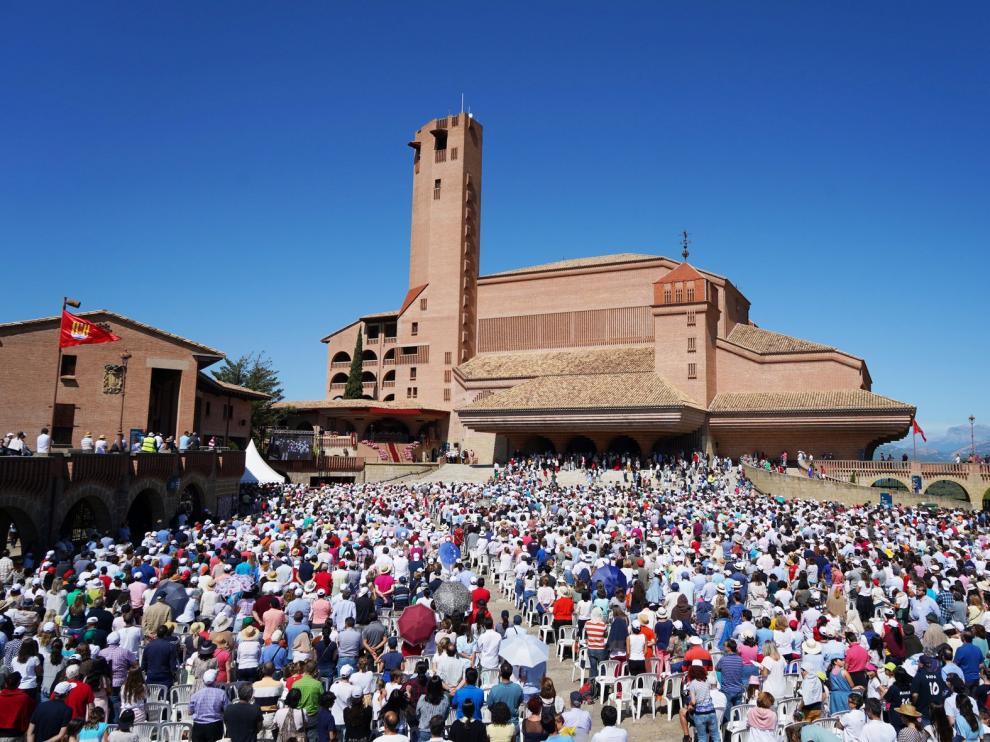 Cerca de 210.000 visitantes en el santuario de Torreciudad en 2019