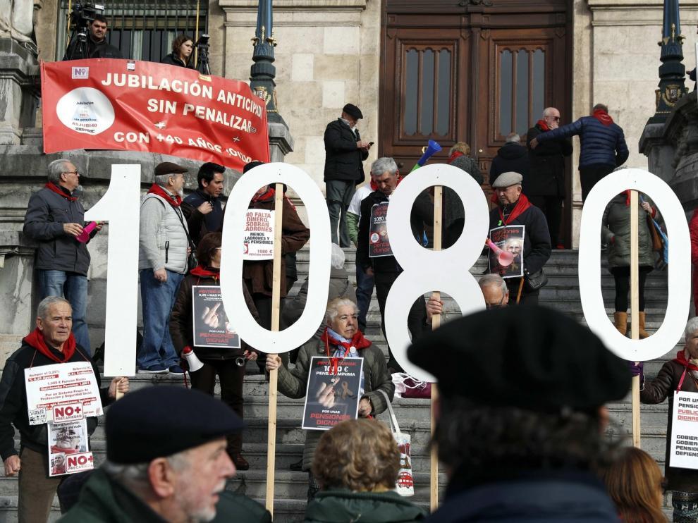 Las concentraciones de los pensionistas cumplen dos años