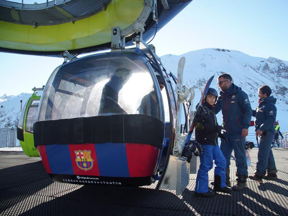 Laliga impulsa el fútbol en Aramón