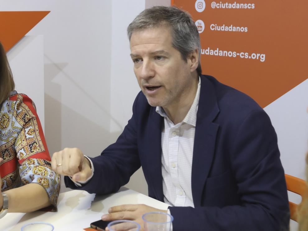 Pérez Calvo envía a Lambán las propuestas de Ciudadanos para abordar el Pacto de la Reconstrucción en Aragón
