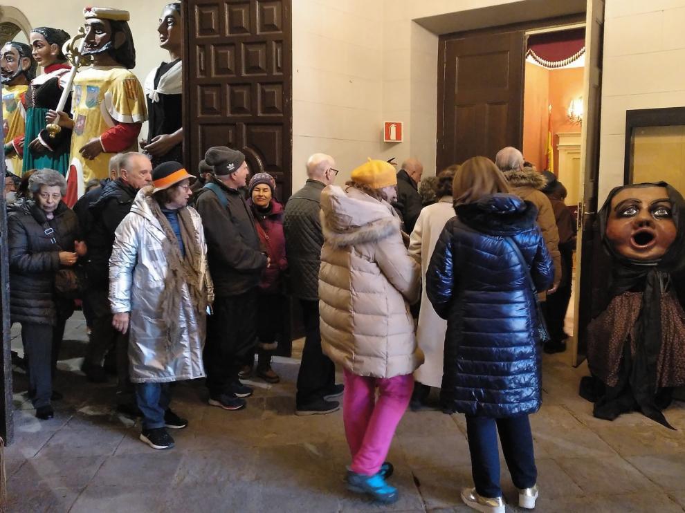 Visitas al Ayuntamiento de Huesca